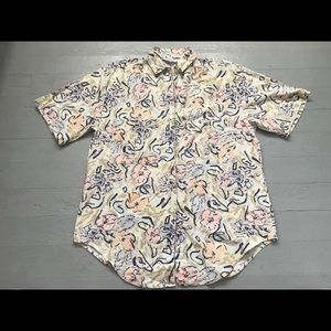 Vintage Cherokee men's faded floral button down